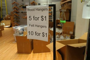 American Apparel Felt And Wood Hangars