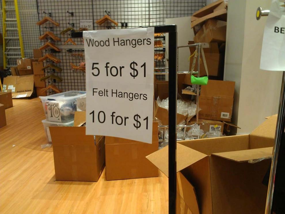 American Apparel Felt And Wood Hangars