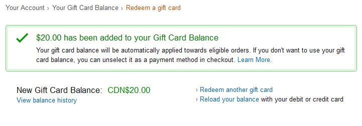 amazon free $20 gift card balance