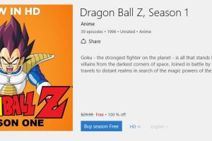 dragon ball z season 1 free 100 percent off