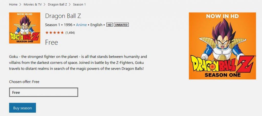 dragon ball z season 1 free download