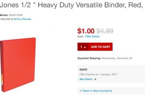 Wilson Jones Heavy Duty Versatile Binder Red Color