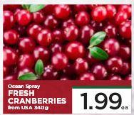 Ocean Spray Fresh Cranberries $1.99