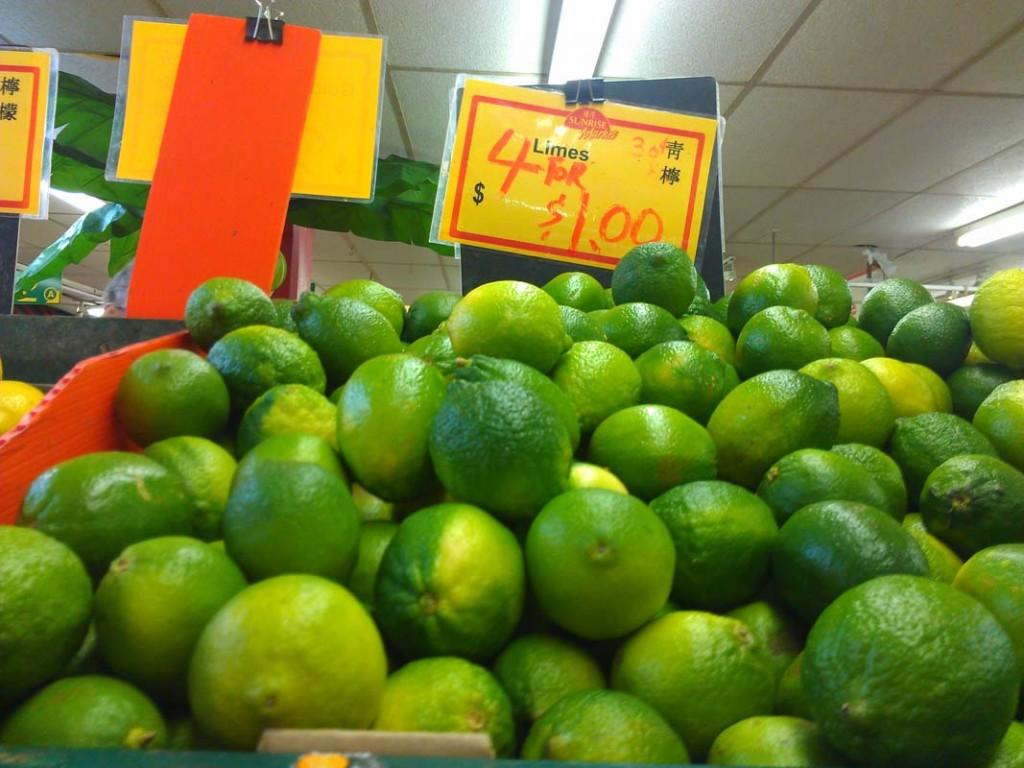 bright green lime sunrise market