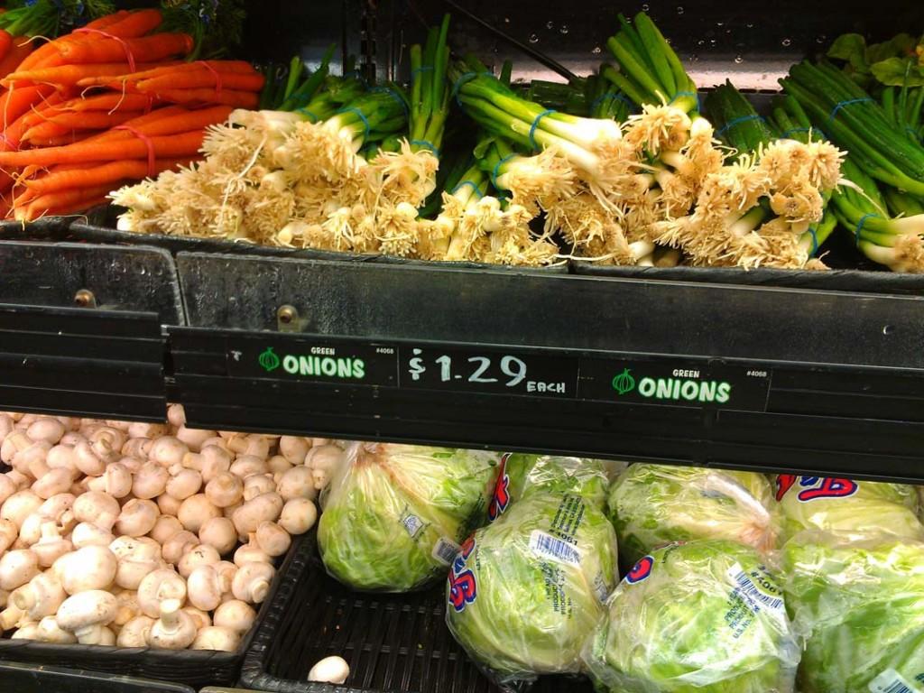 one green onion