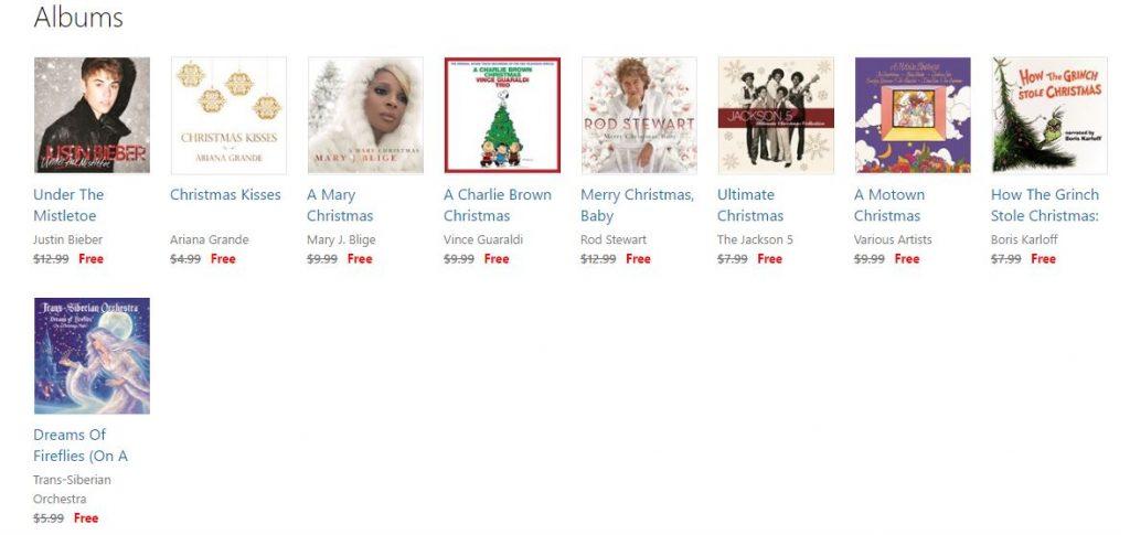 free album christmas